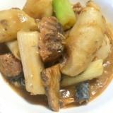 サバ味噌缶と里芋の煮物
