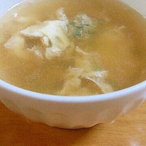 餃子のタネが残ったら、卵スープ