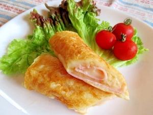 大豆粉で♡とろ~りチーズ&ハム巻きクレープ