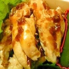 お弁当に♪鶏ササミの生姜焼き