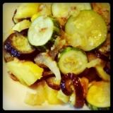豚と夏野菜のパイナップル炒め