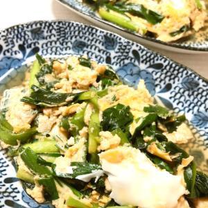 ニラの卵とじ/麺つゆで簡単
