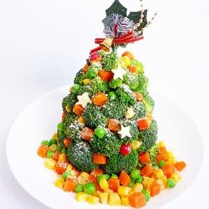 ブロッコリーのベジタブルクリスマスツリー