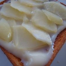美味しいよ!リンゴとカスタードのトースト♪
