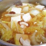 豆腐と白菜と椎茸のあんかけ