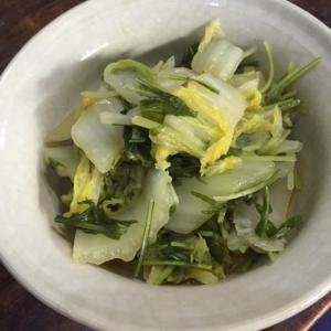 白菜と水菜の煮物