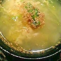 残り野菜の中華スープ♪