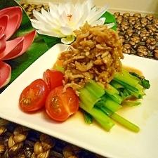 小松菜のシラスソース乗せ*カルシウム満点*
