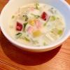 さつまいもと白菜のクリームスープ