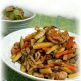 豚肉とさつま芋と人参の味噌炒め