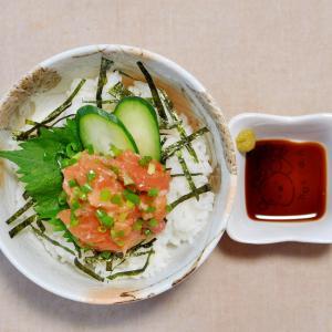 ネギトロサーモン丼