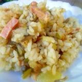 グリーンカレーの炊き込みご飯