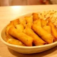 簡単おつまみ☆枝豆とチーズのミニ春巻き