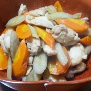鶏とゴボウの煮物