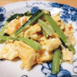 かぶの葉と卵の炒め物