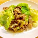 焼肉のタレで簡単!牛肉とレタスのシャキッと炒め