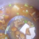 白だしで★なめこ・豆腐・ねぎの味噌汁