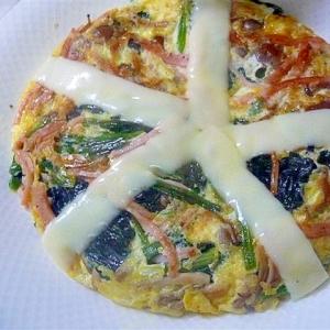 ホウレンソウのチーズ風味卵焼き