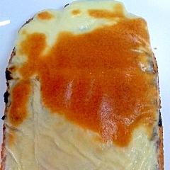 黒ごまチーズトースト 甘じょっぱい