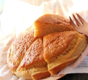 ノンフライヤーで簡単♪ピーナッツ粉のパンケーキ