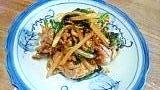 豚肉と冷蔵庫にあった野菜たちのオイスター炒め