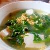 ほうれん草、豆腐、卵のコンソメスープ