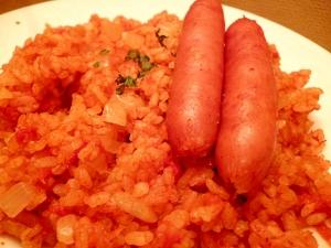 トマト缶で炊き込みメキシカンライス