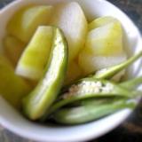 夏の煮物★冬瓜とオクラの煮浸し