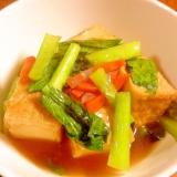 チンゲン菜と厚揚げのうま煮