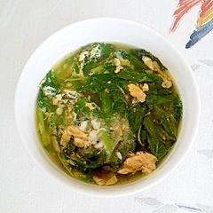 モロヘイヤの卵入りスープ