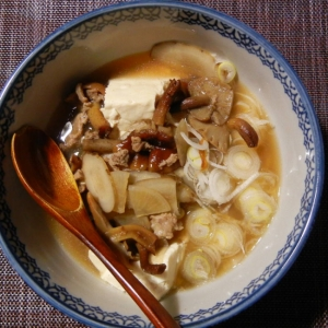 ジナメとごぼうの豚汁 たっぷり豆腐入り
