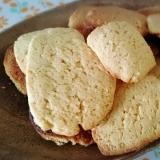 ホットケーキMXで簡単豆乳きな粉クッキー 卵なし