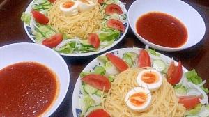 サラダたっぷり☆つけスパゲッティ
