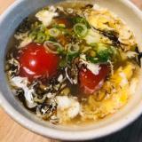もずくとトマトの中華スープ