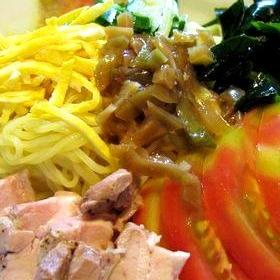 茹で鶏スープも使ってウマウマ冷やし中華