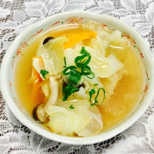野菜たっぷり#鶏出汁スープ