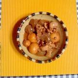 玉ひもと蒟蒻の味噌煮♪