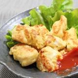 大麦生活★鶏胸肉の柔らかコーンピカタ♪冷凍保存ok
