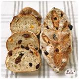 アプリコットとレーズンのライ麦パン