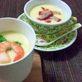 簡単茶碗蒸し2種★和風&中華風