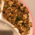 鯖缶で♪豆腐チャンプル