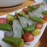 野菜たっぷり☆鯛のカルパッチョ