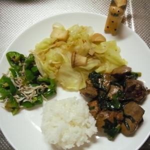 簡単鶏のレバニラ♪とたっぷり野菜でワンプレート