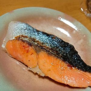 焼き鮭のにんにく風味
