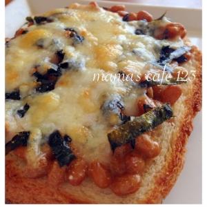 簡単!時短朝ご飯♪納豆海苔のとろ〜りチーズトースト
