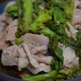 豚肉と菜の花のアジア風炒め物