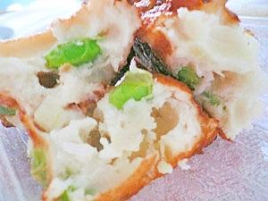 白身魚のすり身と枝豆のふわふわ揚げ