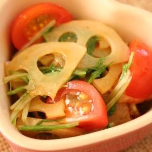 トマトとれんこんの柚子胡椒和え