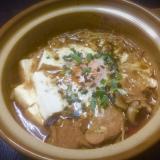すき焼き風肉豆腐