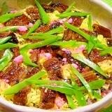 黒米で桜色ご飯☆穴子散らし寿司